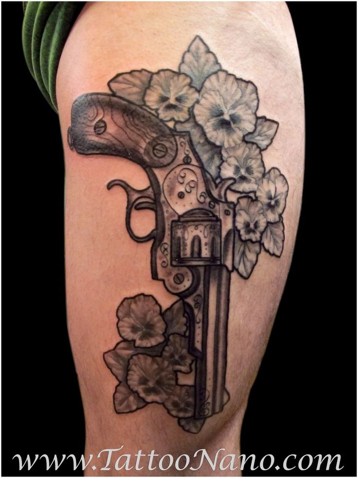 47 best images about revolver tattoos on pinterest pistols pistol tattoos and black and grey rose. Black Bedroom Furniture Sets. Home Design Ideas