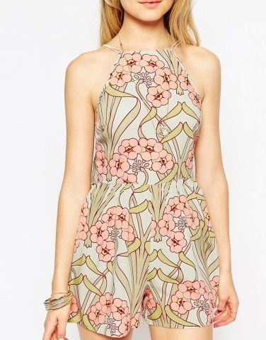 Pretty occasion playsuit with drape back $72