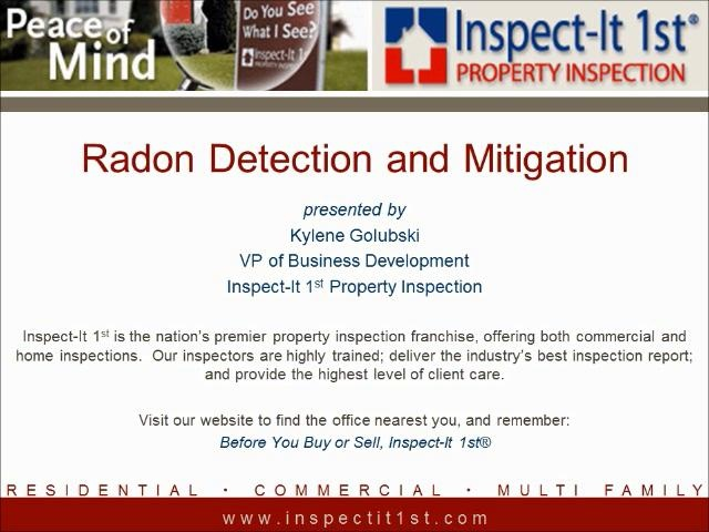 Home Improvement Radio USA: Radon Testing & Mitigation by Inspect-It 1st. You may have heard about radon, but do you know how serious a risk it poses to you and your family's health? Learn more about what radon is, how it could harm you, and what you can do about it!
