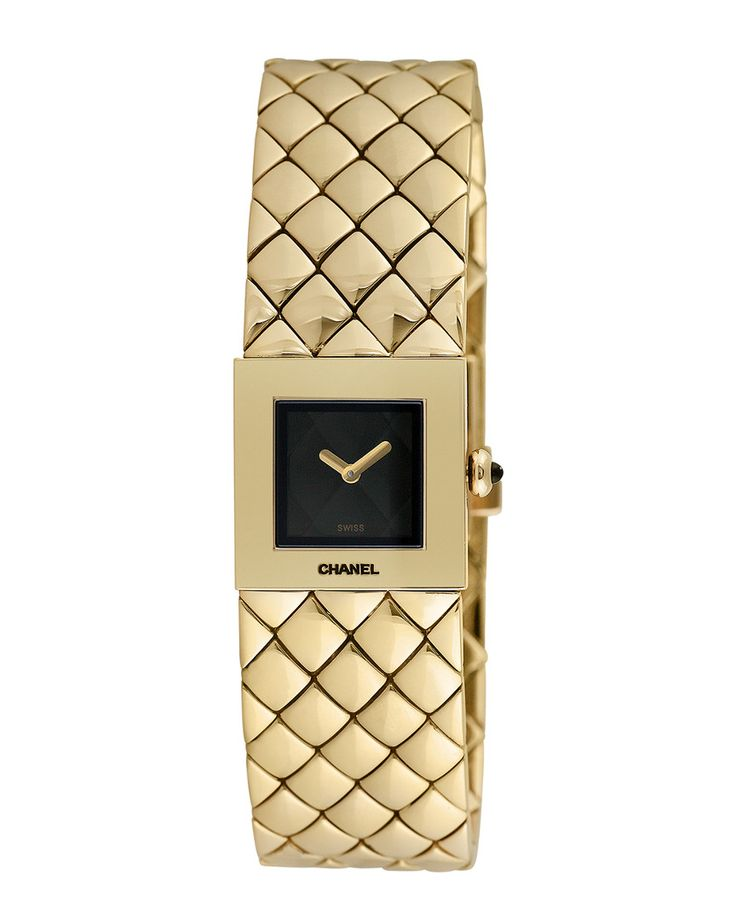 This is an authentic pre-owned Chanel piece. It may be possible that there is some gentle wear. Quartz movement 18-karat Yellow gold bracelet Deployment with push button 18-karat