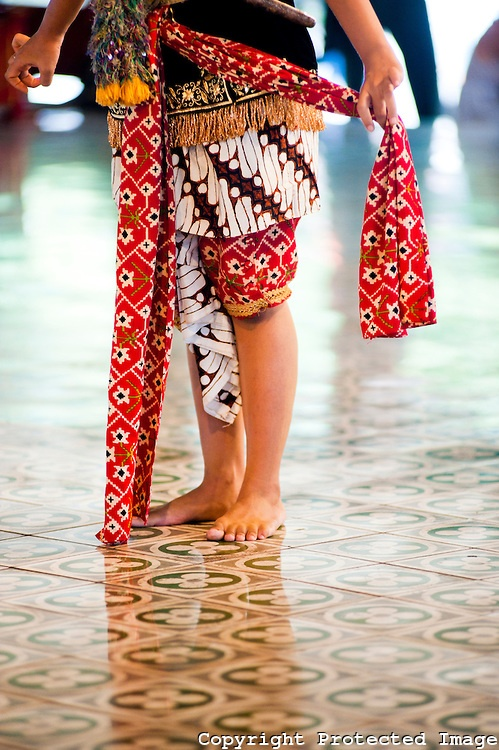 Close Up Photo of a Mans Costume While Performing a Traditional Javanese Dance at The Sultan's Palace, Kraton, Yogyakarta, Java, Indonesia