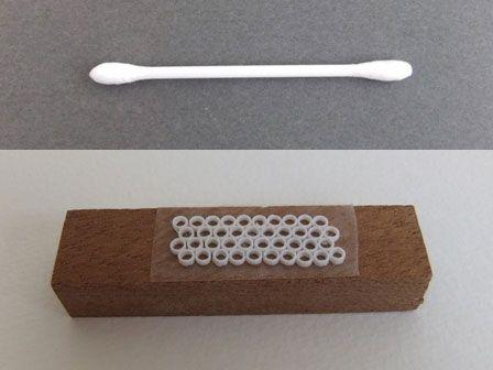 湯沸かし器 - miniature YOYO STUDIO 出湯管のカバーは、綿棒のプラスチック軸の部分をカットして使用。