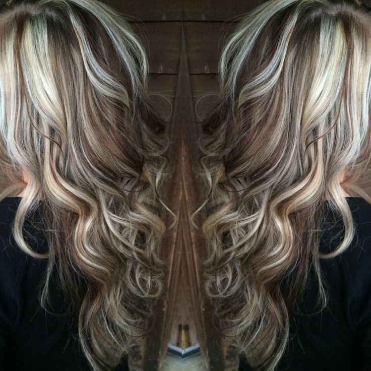 Cool blonde highlights and chocolate low lights perfect!!!!