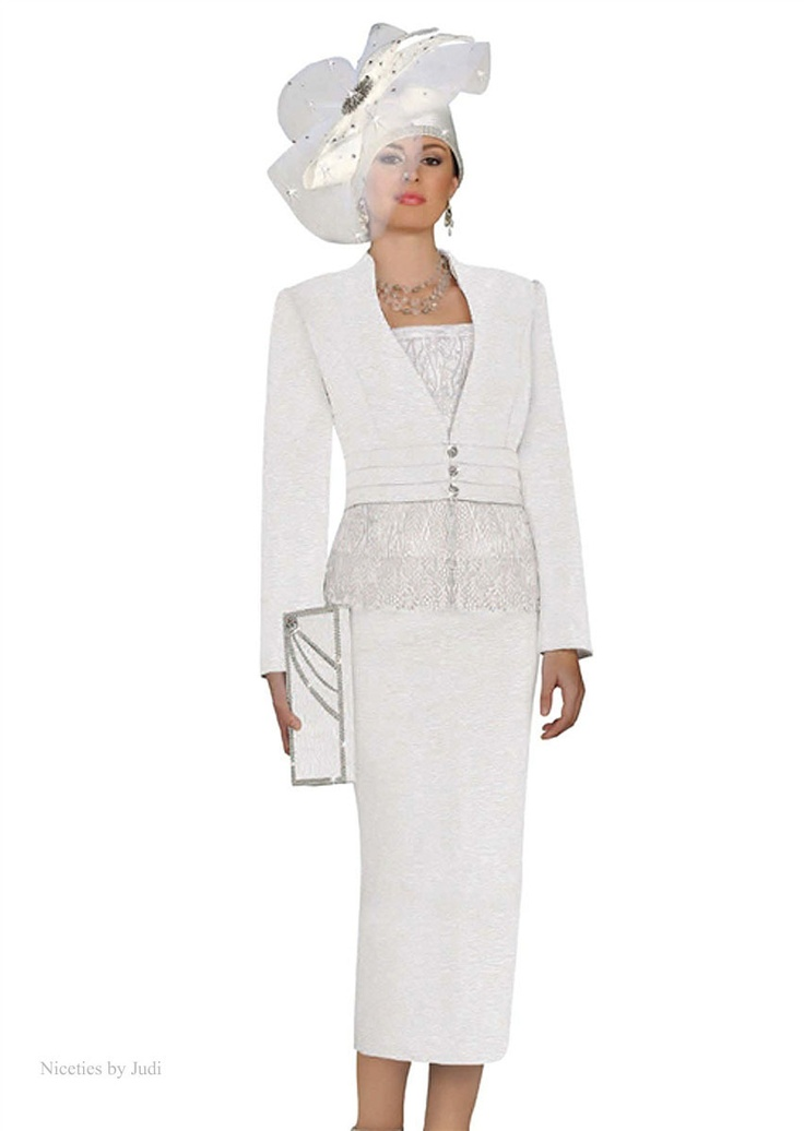 Ben marc 47110 off white bridal wedding womens church for Womens white dress suit wedding