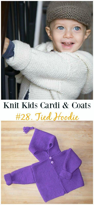 Kids Cardigan Sweater Free Knitting Patterns | Dos agujas para niños ...
