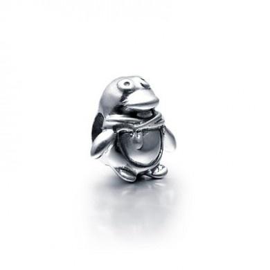 Penguin Bead - 925 Sterling Silver charm - fits Pandora, Biagi & Troll bracelets