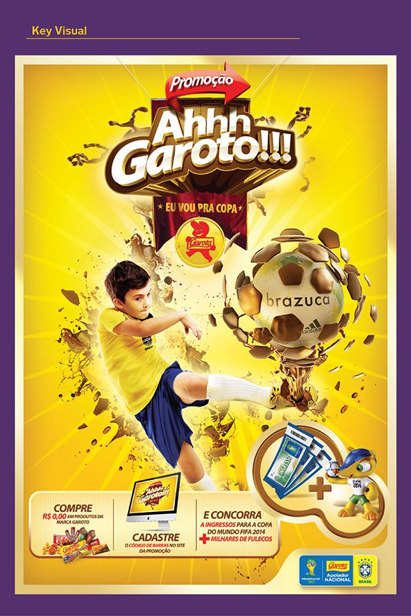 Promoção Ahhh Garoto! by Alexandre Gama, via Behance