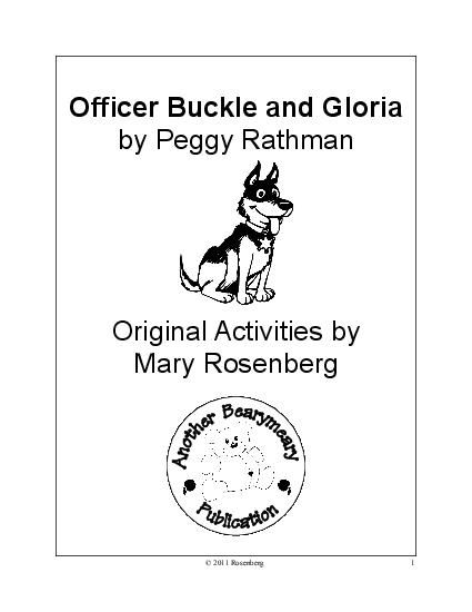 77 best Officer Buckle and Gloria Activities images on