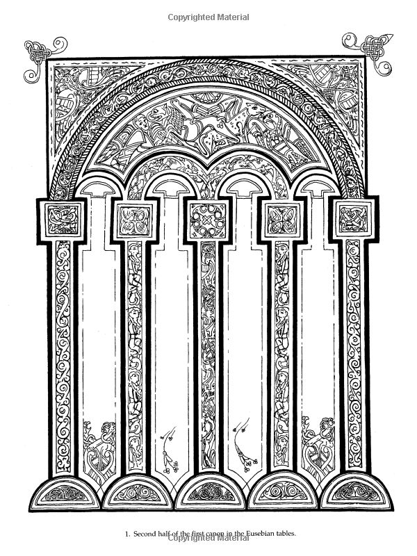 Book of kells coloring pages