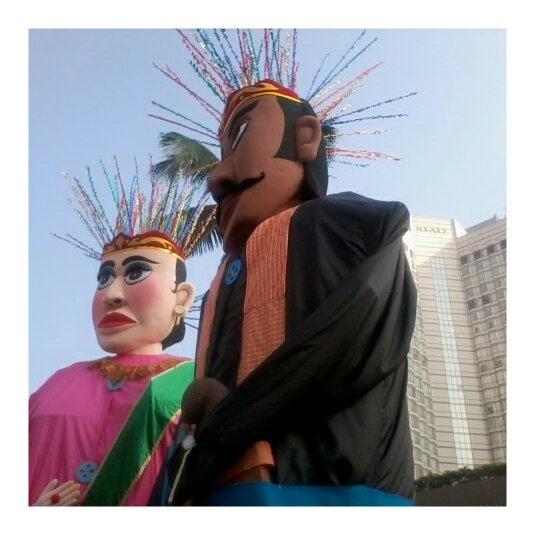 Giant Ondel-Ondel at Jakarta Indonesia