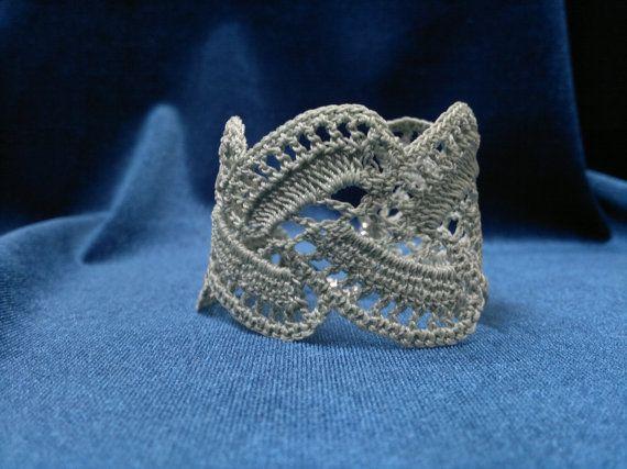 Crochet Lace Bracelets Handmade Jewelry by FineCrochetedJewelry, $20.00