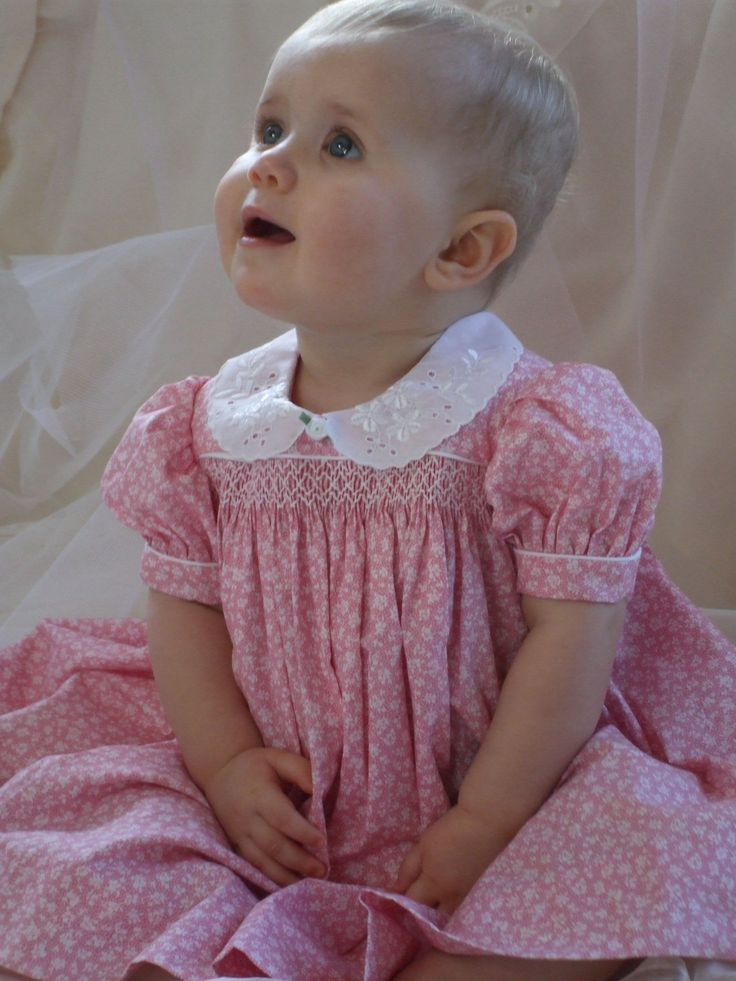 baby dresses | Hand smocked baby dress Different collar, perhaps, but simple and lovely.