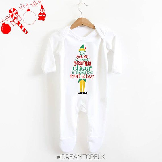 Christmas Cheer baby romper suit  Christmas bodysuit