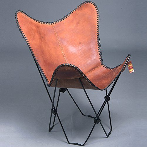 TEXAN DECOR CB34F LEATHER BUTTERFLY CHAIR FOLDING LOUNGE ... on Living Accents Sling Folding Chaise id=87417