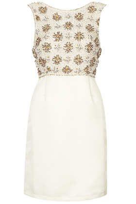 **LIMITED EDITION Beaded Bodice Satin Dress - Dresses  - Clothing