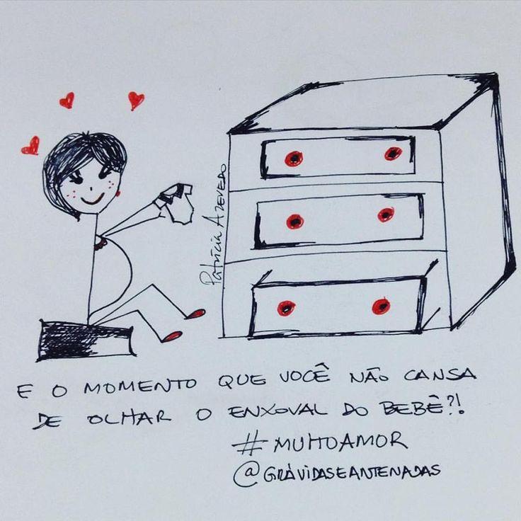 Quem aiii olha toda hora o enxoval do bebê? #muitoamor por www.gravidaseantenadas.com.br ❤❤❤