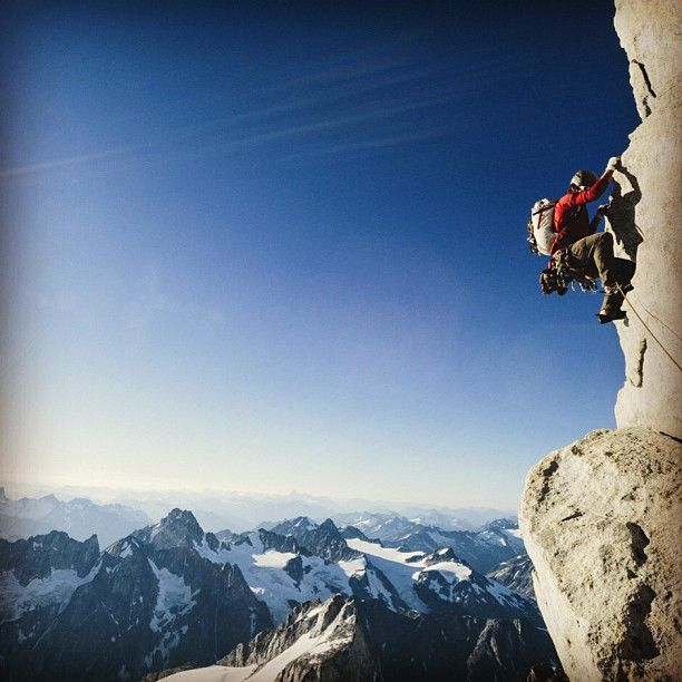 Alpine climbing in the Waddington Range, BC. Photo by Forest Woodward. #outdoorresearch