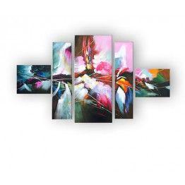 Tableau Peinture Fusion de couleurs