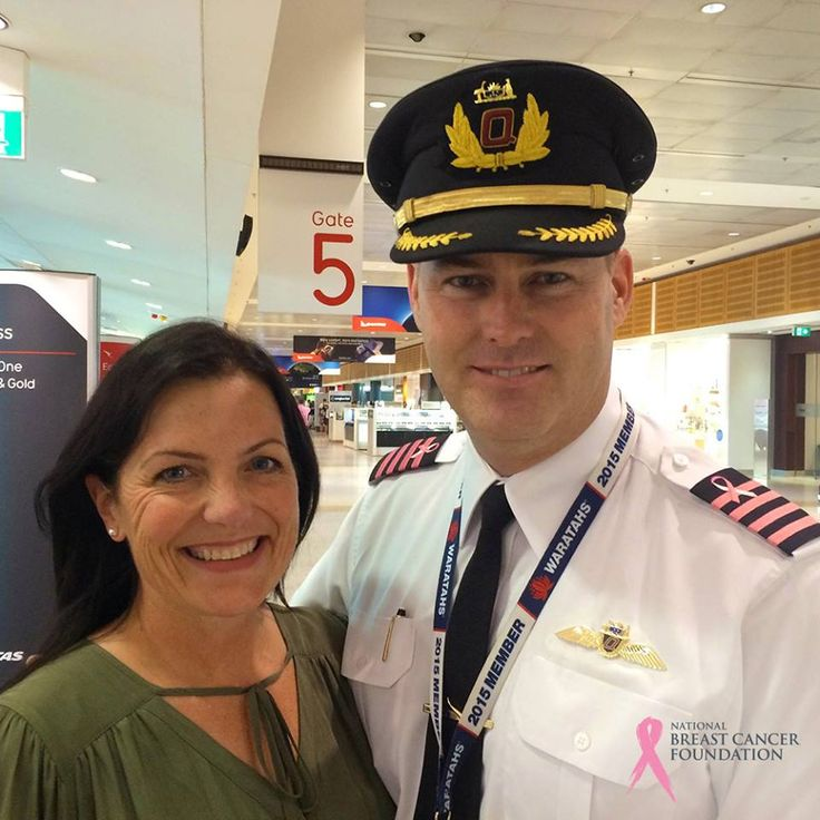 One of our staff members, Libby bumped in to Qantas pilot captain B737 Jerem C. Zwart on the way to Perth. Jerem was wearing pink epaulets (shoulder stripes) for #weflypink and said he was amazed by the participation worldwide.  Big thanks to @QantasAirways and all the pilots who are getting involved with this campaign, we love seeing you turn the skies pink to help raise awareness and donations for life-changing breast cancer research.  Visit http://flypink.net for more information.