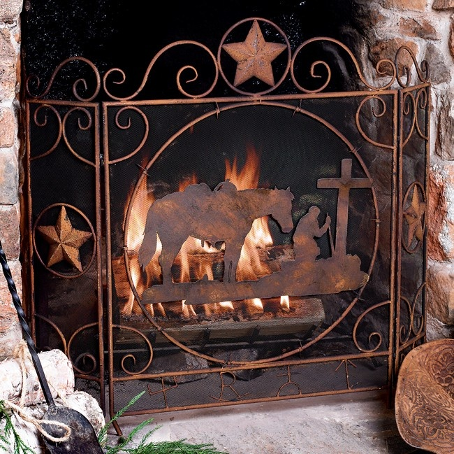 Praying Cowboy Fireplace Screen Western Things Pinterest Fireplace Screens Cowboys And
