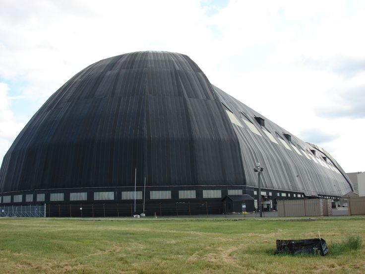 Home to USS Akron and USS Macon at one time. Goodyear Zeppelin Hangar at Akron, Ohio, USA