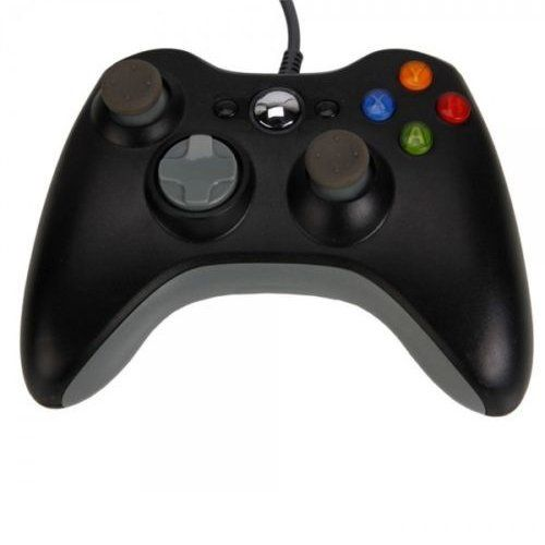 ostent wired usb controller gamepad compatible for microsoft xbox 360 console windows pc laptop computer video