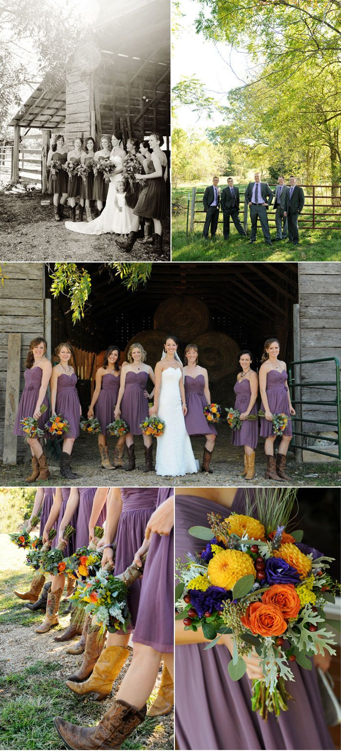 Rustic Fall Wedding with Creative DIY Ideas @Nicole Swalski cowboy boots and a flower arch :)