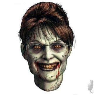 Sarah PalinPalin Zombies, Sarah Palin Scary, Palin Scary Lady'S Most, Lady'S Most Vindictive, Vindictive Personalized, Palin Masks, Rogue Zombies, Masks Halloween31, Extremist Idiot