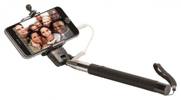 Selfie Stick med Shutter | Satelittservice tilbyr bla. HDTV, DVD, hjemmekino, parabol, data, satelittutstyr