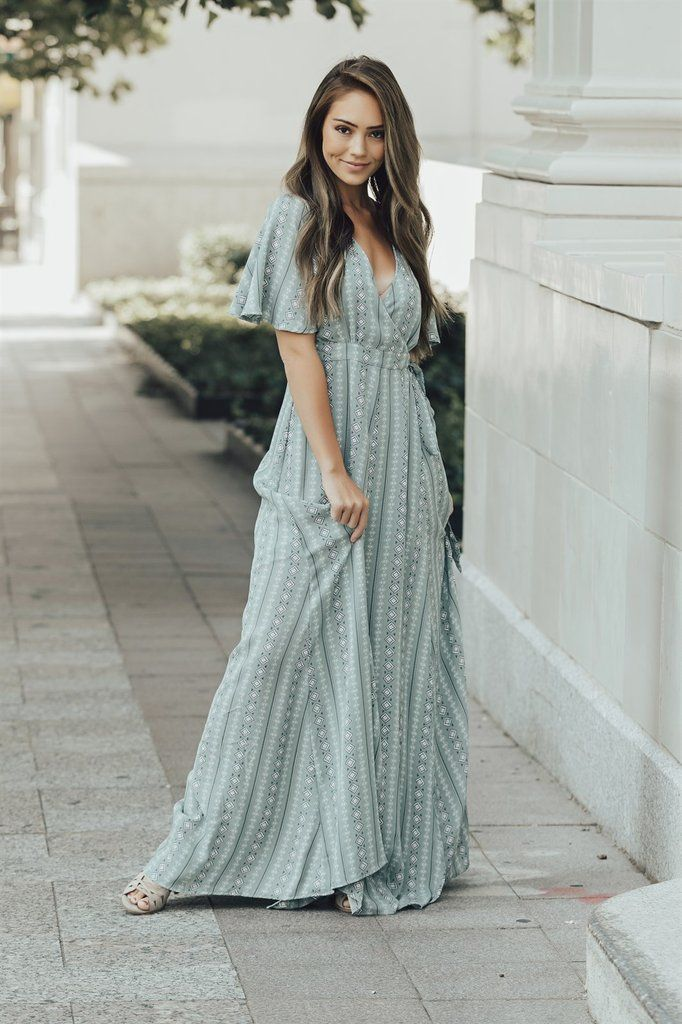 7ae57cff6caf The Mayan Maxi Wrap Dress in 2019 | dresses | Maxi wrap dress ...
