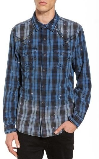 Men's True Religion Brand Jeans Studded Shirt