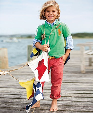 Ralph Lauren Kids Separates, Little Boys Coming & Going Polo, Blake Shirt  and Suffield Pants - Little Boys - Kids & Baby - Macy's