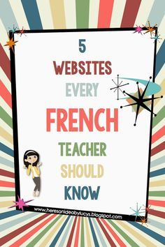 Here's an idea: Free French eBook and 5 French websites every French teachers should know! ✿ French / Learning French / FSL / learning languages / Spoken French / Speaking French / French Vocabulary ✿ Repin for later!