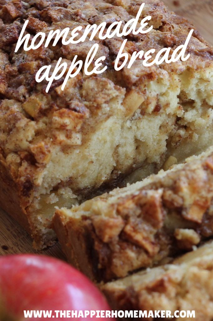 homemade apple bread // moist, flavorful, total fall comfort via the happier…