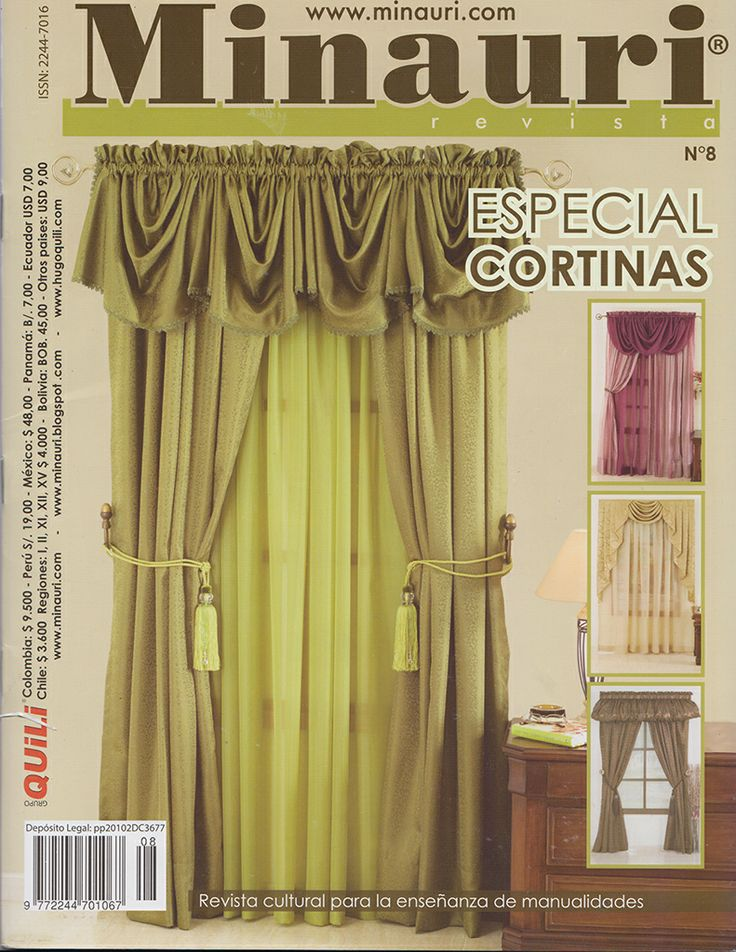 Revista Especial de Cortinas: Revistas Confección, Curtain, Minauri Revistas, Ideas Para, Craft, Special, Curtain Ideas