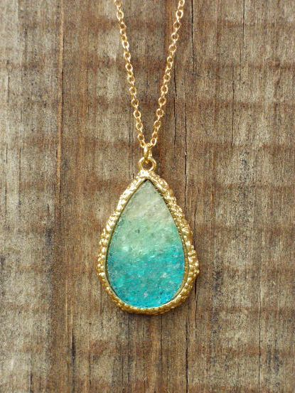 Ombre Dream Catcher Druzy Necklace [3153] - $21.00 : Vintage Inspired Clothing & Affordable Fall Frocks, deloom | Modern. Vintage. Crafted.