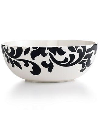 Martha Stewart Collection Lisbon Black Vegetable Bowl