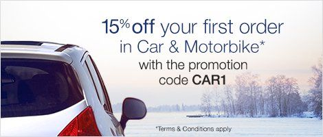 15% off your first order in Car & Motorbike with the promotion code CAR1 http://amzn.to/2gESpmX