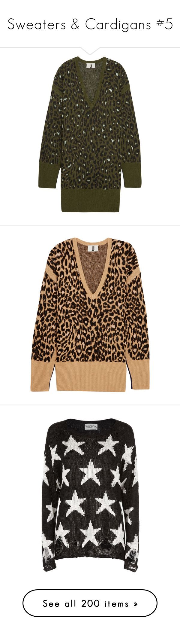 """""""Sweaters & Cardigans #5"""" by emma-oloughlin ❤ liked on Polyvore featuring dresses, oversized sweater dress, brown dress, leopard dresses, brown knit dress, sweater dress, tops, sweaters, leopard print and intarsia sweater"""