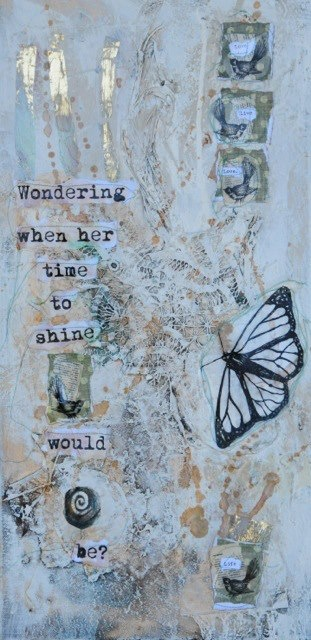 """""""Wondering when her time to shine would be""""   by Claire Hey."""