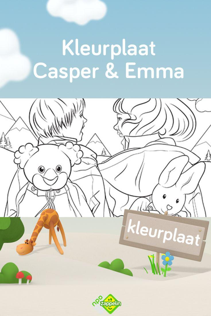 Kleurplaat Casper En Emma In De Bergen Kleurplaten Emma Kinderkleurplaten