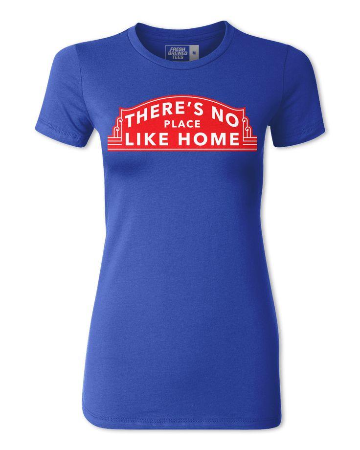 Chicago Baseball No Place Like Home Ladies T-shirt