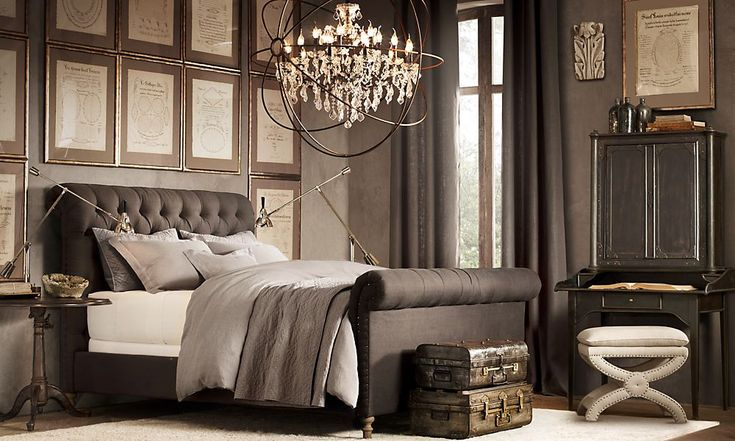 I like the colors in this room. The style of the bed is similar to what I would like to have in my bedroom. http://www.restorationhardware.com/rooms/?id=144019&categoryId=cat1600023#/242090