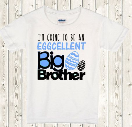Big brother Announcement Shirt Easter Pregnancy by The1stYearBaby