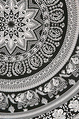 Couvre-lit Motif éléphant indien Mandala Décoration murale Motif bohémien, dortoir Hippie MUR CHAMBRE Decor Urban tapisseries, nappes de couverture de plage en coton, Boho-nique/couvre-lit en coton pour lit: Amazon.fr: Cuisine & Maison