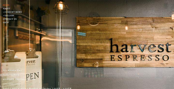 harvest espresso website