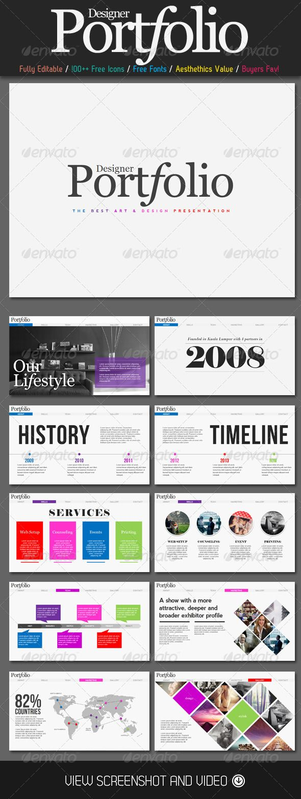 Portfolio Magazine PowerPoint Presentation - Presentation Templates more on http://html5themes.org