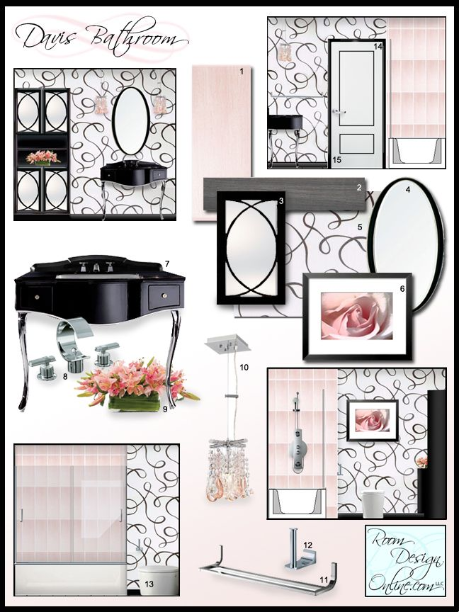 Beautiful interior design concept board with virtual for Virtual interior design
