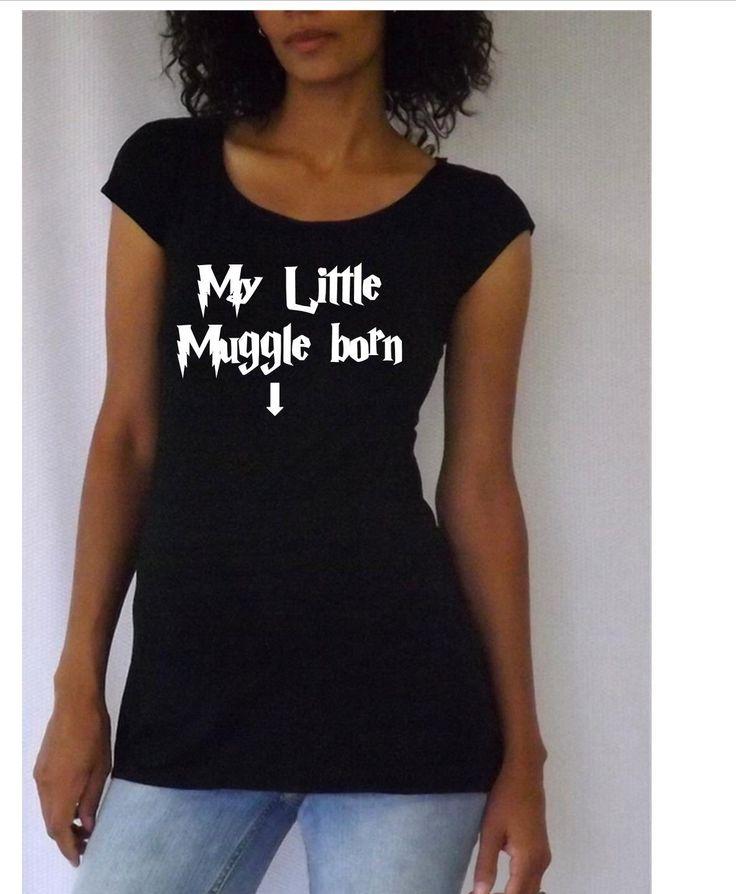 Funny maternity Shirt/Tee My little Muggle by DJammarMaternity, $26.99
