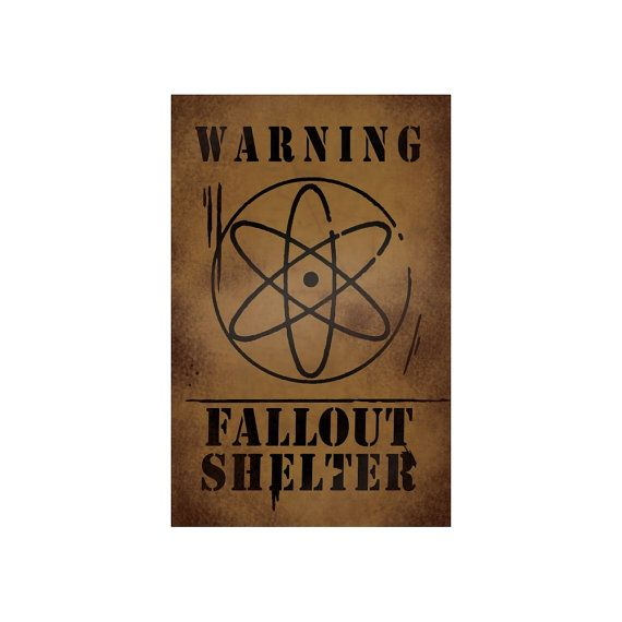 This is a high quality print of the Fallout Shelter sign seen in episode 2 of the second season of Gravity Falls, Into the Bunker. Printed on